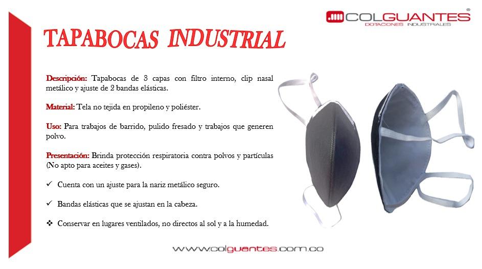 tapaboca industrial